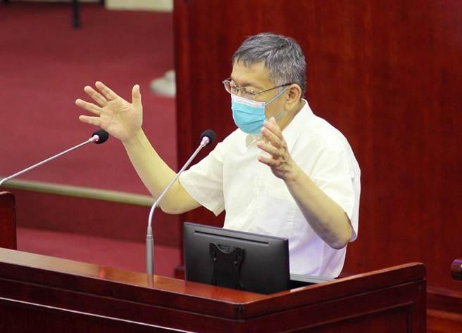 台北市長柯文哲。(張鎧乙攝)