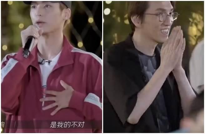 李響當眾向林志炫認錯道歉。(取自微博)