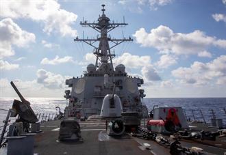 今年第9次 美飛彈驅逐艦通過台灣海峽