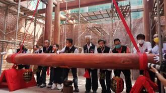 台中浩天宮500公斤紅木陞樑大典 信眾爆滿爭睹
