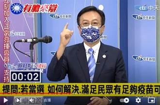 KMT主席大擂台》解決疫苗短缺? 卓伯源:透過國民黨平台發起團購疫苗活動
