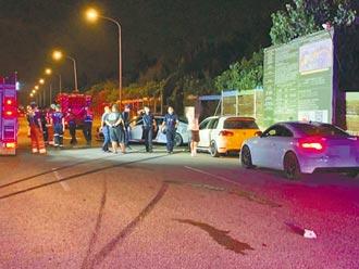 半夜車聚競速 飆撞4車2死3傷