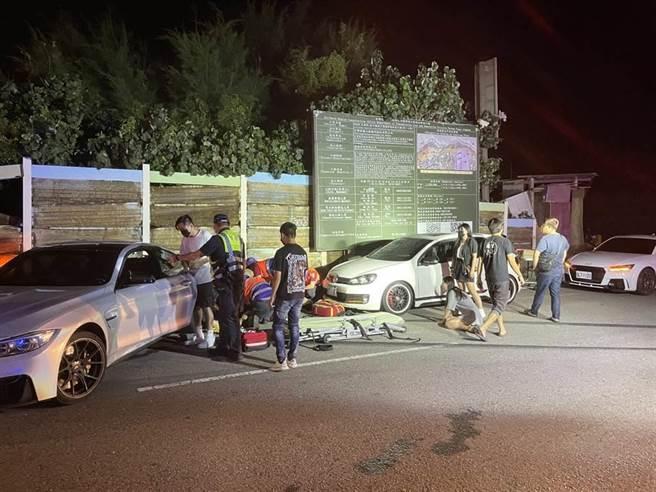 桃園市觀音區發生疑似競速失控釀2死3傷事故,檢方認2嫌有羈押事由,向法院聲請羈押。(翻攝照片)