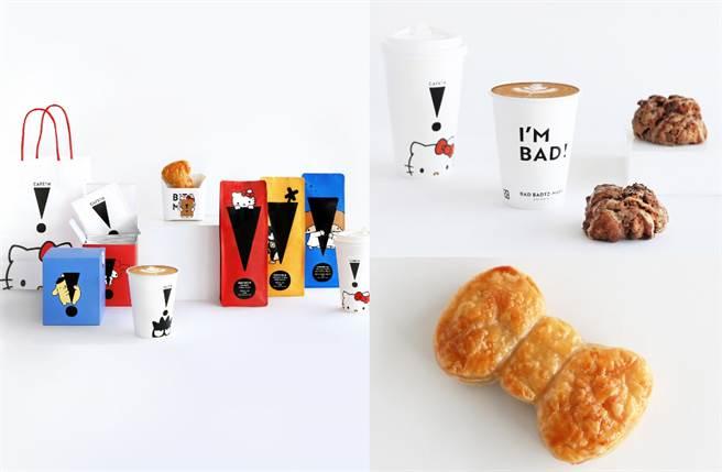 CAFE!N 和 SANRIO 三麗鷗家族跨界合作,讓超人氣角色 HELLO KITTY、酷企鵝、布丁狗、美樂蒂及雙星仙子躍上一系列咖啡商品。(圖/品牌提供)
