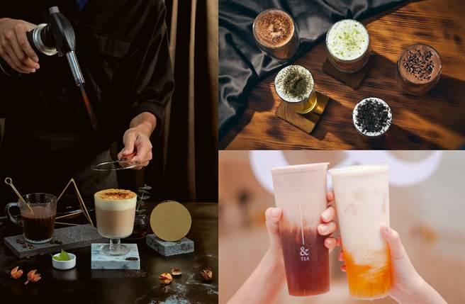 極簡風手搖 &TEA 推出雙主打「法式海鹽奶蓋」與「秘製熱帶果茶」,是初秋必喝的話題飲品。(圖/品牌提供)