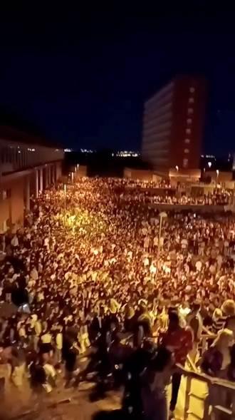 馬德里大學開學 2萬5000人無罩開趴 警方措手不及