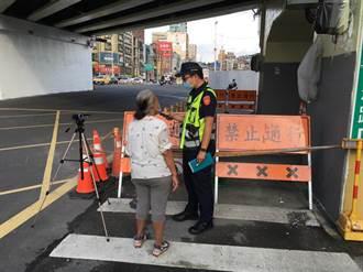 基隆海洋廣場封路施工 連假多遊客闖工區遭開單