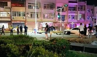 嘉義派出所前車禍 1人拋車外死當場死5人輕重傷