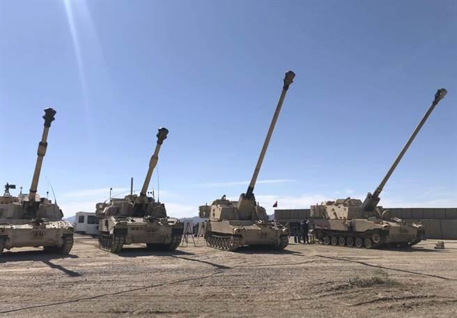 美國陸軍「增程火砲砲兵系統」的幾輛樣車,增長砲管是主要的改進重點。(圖/美國陸軍)