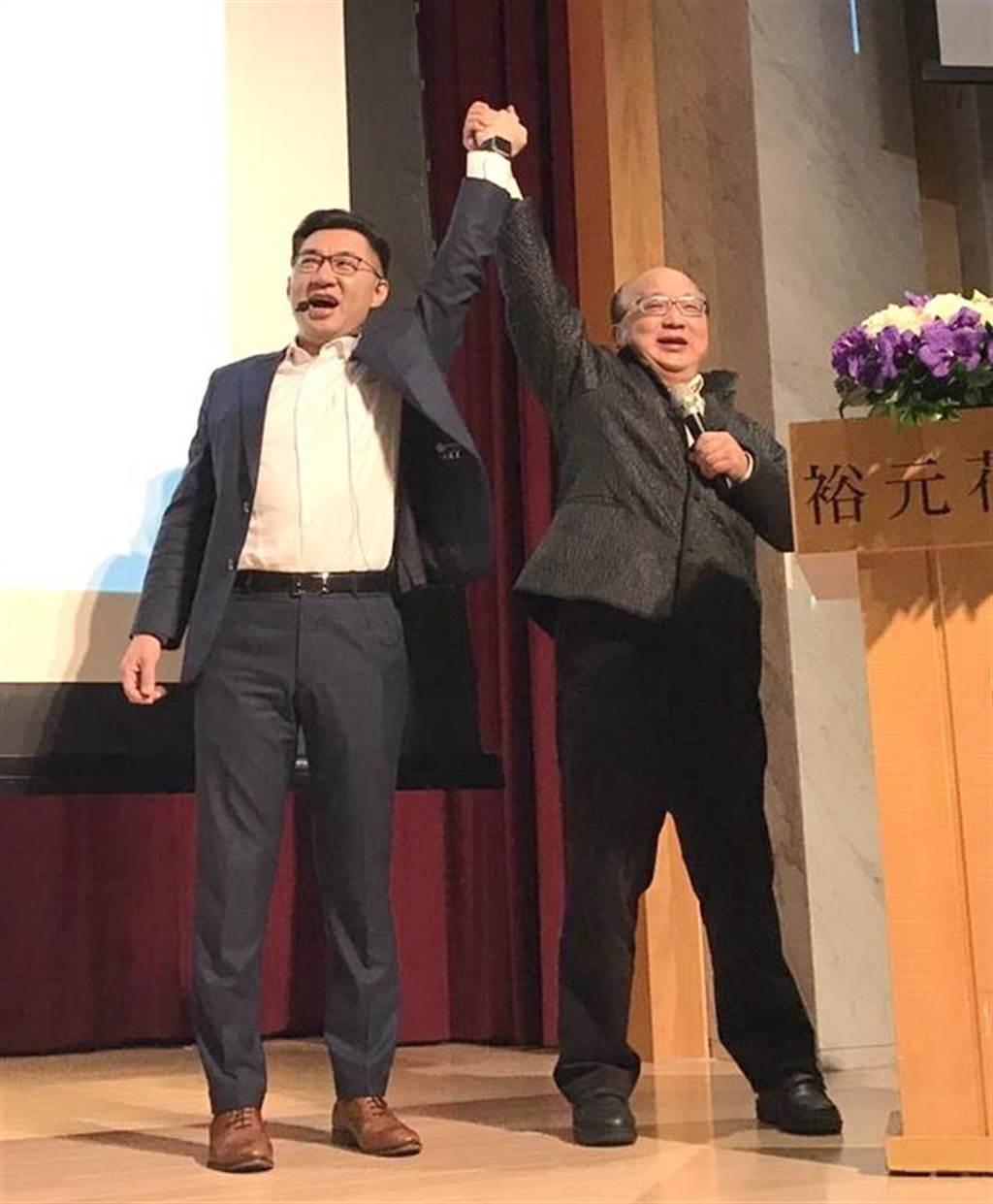 前台中市長胡志強力挺江啟臣連任,強調國民黨必須世代交替、團結,讓年輕人多說話、做對事。(資料照.盧金足攝)