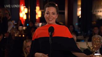 第73屆艾美獎/《王冠》抱7大獎成最佳贏家 「女王」奧莉薇亞柯爾曼奪劇情類視后