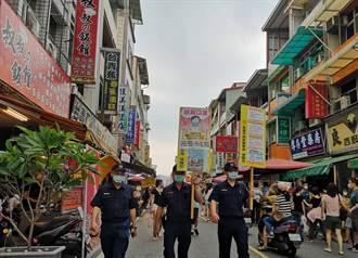 旗山老街中秋假期湧人潮 警方加強宣導防疫