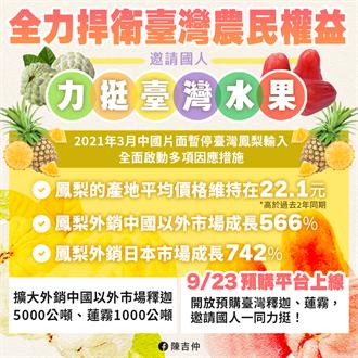 陳吉仲邀民眾挺國產釋迦蓮霧 9月23日預購平台上路