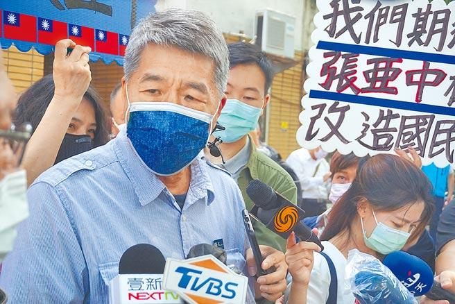 張亞中說:「民進黨最怕的就是我。」(王文吉攝)