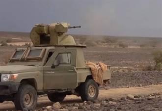 葉門叛軍新裝備:豐田皮卡車配備30公釐快砲