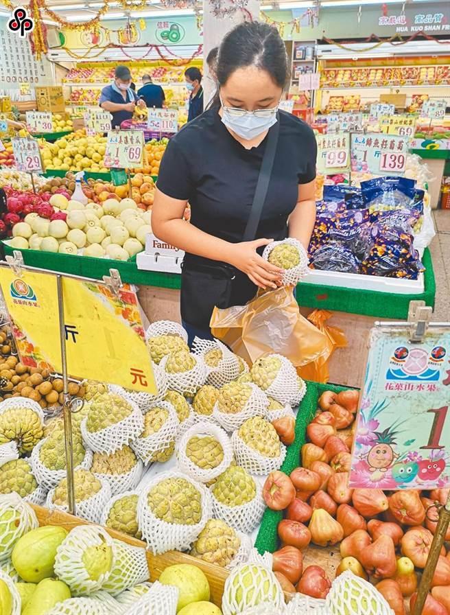 中國大陸海關發出公告,台灣釋迦、蓮霧20日起暫停輸入中國大陸。(陳君瑋攝)