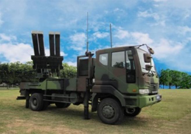 中科院研製的陸射二飛彈系統。取自中科院官網