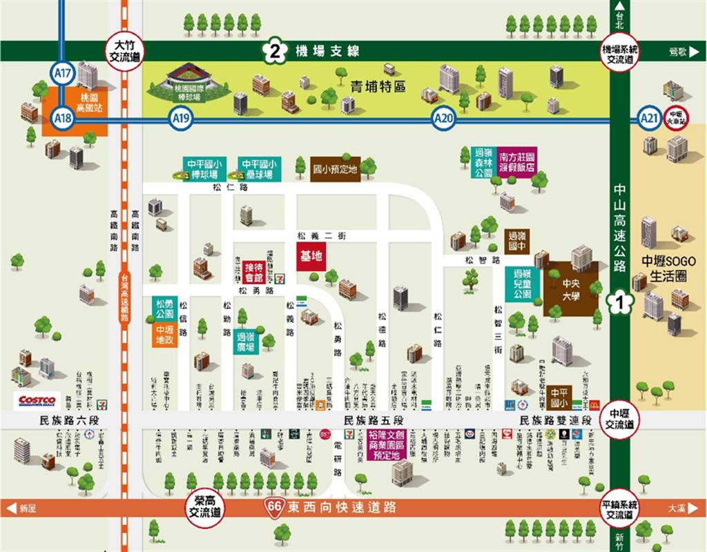 「豐湛5」位於松義路及民族路商圈,鄰近快速道路及交流道,交通便捷。(圖/豐湛提供)