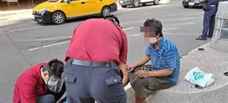 男子為攔計程車闖馬路 忠孝地下道前遭車撞飛