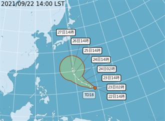 周五起首波東北風影響台灣 輕颱「電母」預計周六生成