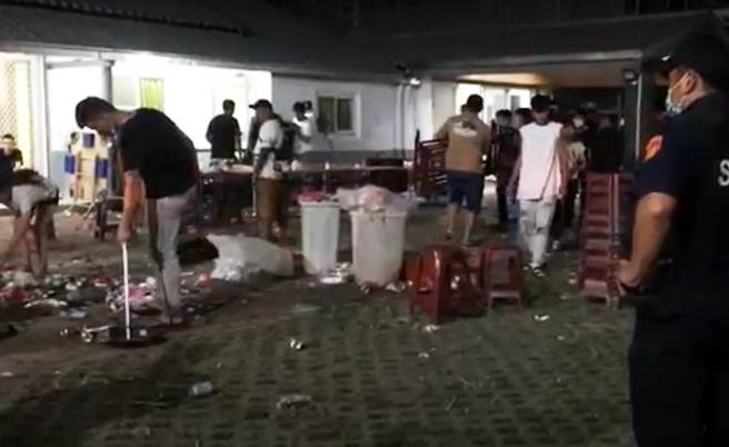中秋夜烤肉台東發生打群架,4人掛彩。(翻攝畫面)