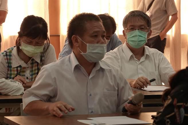 大陸暫停入台灣釋迦,行政院農業委員會22日至台東地區農會說明因應對策。(蔡旻妤攝)