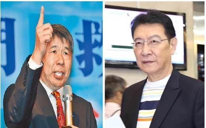 國民黨主席候選人 張亞中、資深媒體人 趙少康。(圖/合成圖,本報資料照)