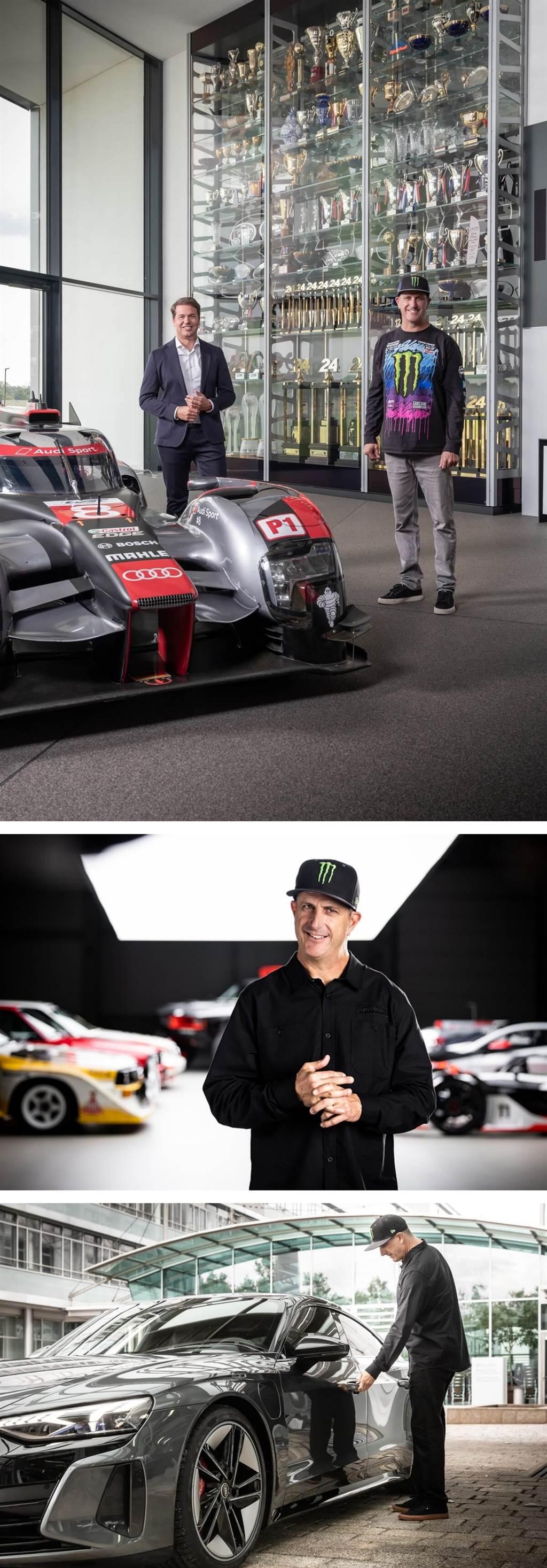 Ken Block轉戰電動車?與Audi展開合作一起放電(圖/CarStuff)
