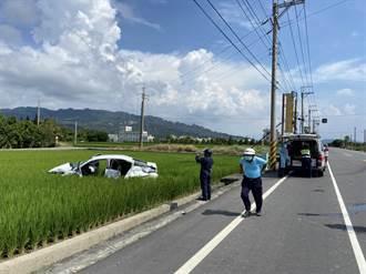 苑裡苗140線貨車自小客擦撞 女駕駛受困獲救送醫