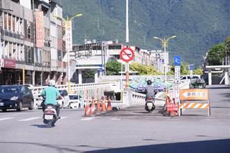 3年前強震中受損 花蓮市中山地下道機車道整修