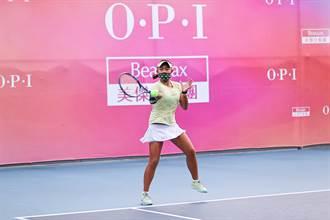 網球》14歲小將蔡宇甯 勇奪OPI盃雙料冠軍