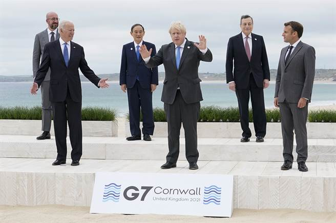 在激烈的美中對抗當中,歐洲與全球其他國家都一樣,必須在美中之間選邊站,沒有哪個國家能左右逢源。圖為今年6月在康沃爾舉行的G7峰會。(圖/路透)