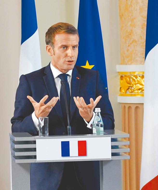 法國因潛艦訂單遭澳洲取消,與美國和澳洲交惡。法國總統馬克洪不僅未出席紐約聯合國大會,也不像中國國家主席習近平預錄影片致詞。(新華社)