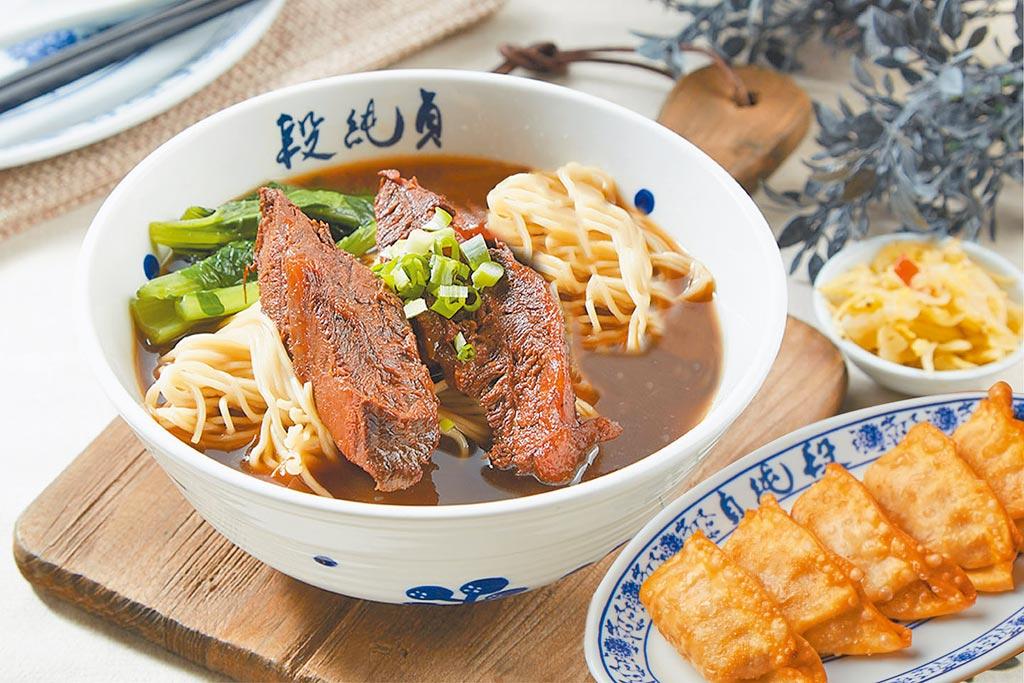 段純貞牛肉麵單人套餐,原價220元,五倍券優惠200元。(六角國際提供)