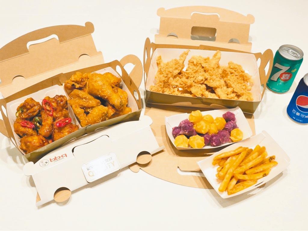 即起至bb.q CHICKEN消費滿千,就贈送「全餐振興五倍券」。(bb.q CHICKEN提供)