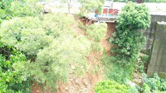 豪雨沖塌潭子區道路邊坡 立委爭取1260萬元復建