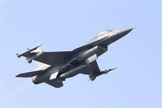 F-16起飛前起落架意外收上 空軍:戰機輕損、人安