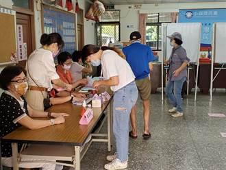 國民黨主席選舉天氣晴朗 雲林縣多數投開票所要排隊