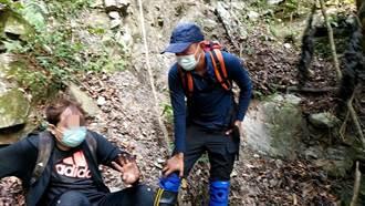 男單攻波津加山滑落40公尺邊坡 搜救人員垂降救出