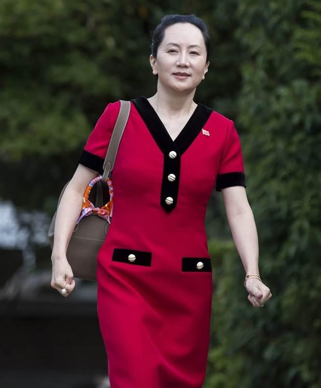 孟晚舟2年前穿紅色連身裙裝出庭。(美聯社)