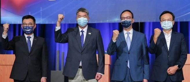 國民黨主席選舉4位候選人。(圖/本報資料照)