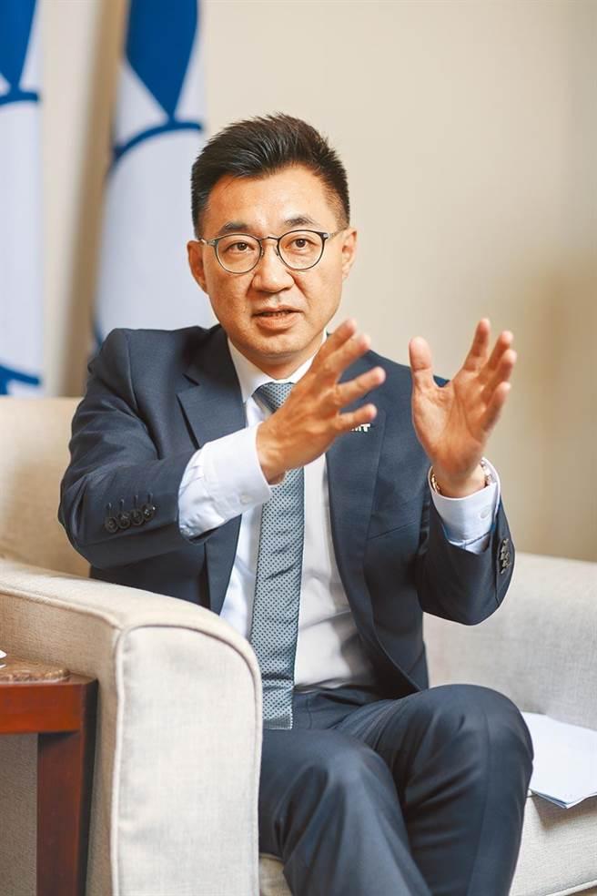 江啟臣尋求國民黨主席連任失利,出面發表談話。(報系資料照)