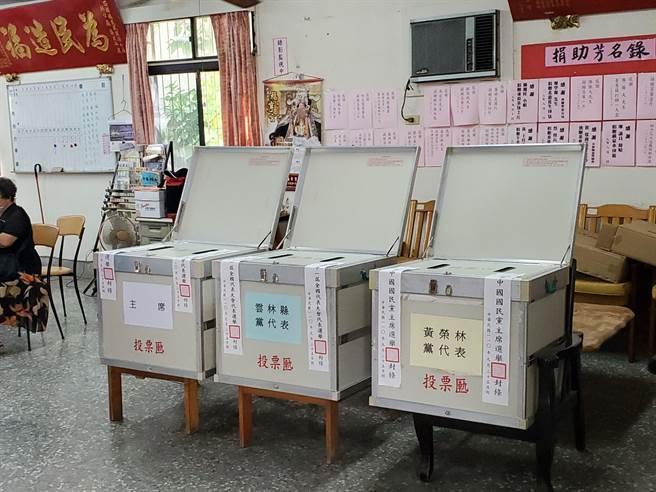 國民黨主席暨第21屆全國黨代表選舉投票,雲林縣投票率達65%。(周麗蘭攝)