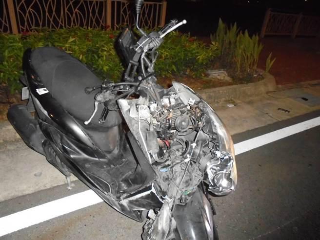 38歲哈姓騎士25日深夜騎車行經青埔酒駕自摔亡。(翻攝照片/蔡依珍桃園傳真)