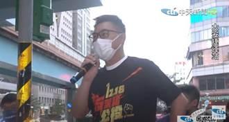 羅智強江啟臣合體台北街頭開講 喊公投拚過500萬票