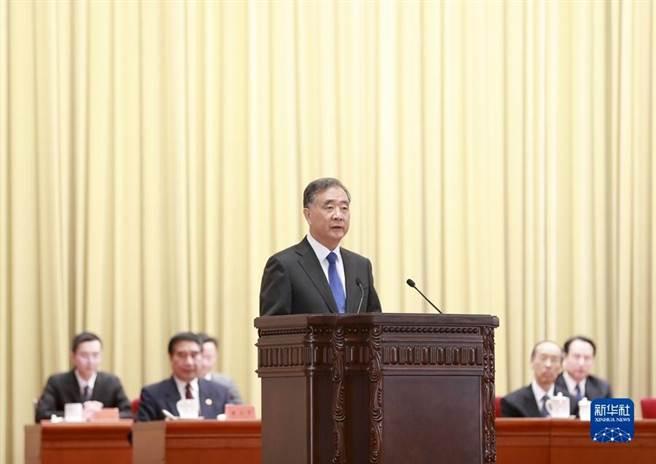 大陸全國政協主席汪洋26日在北京出席大陸全國台聯成立40周年活動並講話。(新華社)