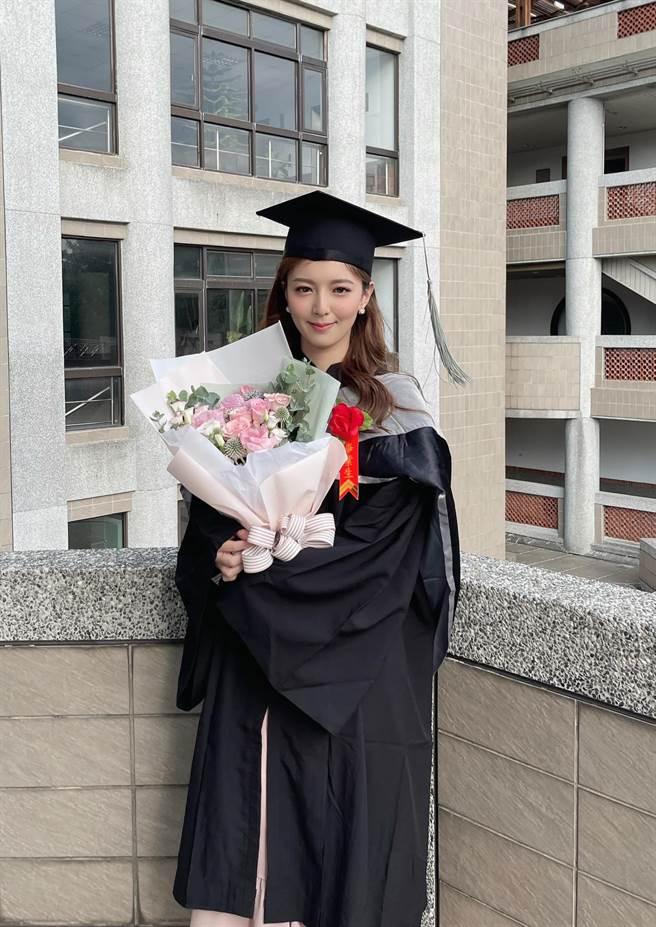 房業涵日前從台大創業創新管理研究所畢業了。(圖/翻攝自臉書)