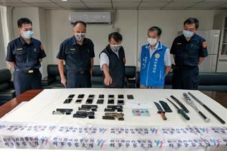 新竹縣警展掃黑成果 分局長被「歡送」要糾出藏鏡人
