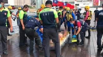 基隆海洋廣場獨居男溺水 警消救起無生命徵象