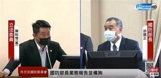國防部長邱國正自稱柔軟 堅持用國語備詢